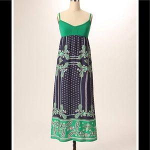 Anthropologie Lilka Bandanna Chemise Maxi Dress